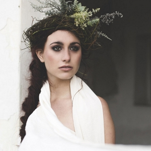 Boho Bridesmaid in Greenery Headpiece
