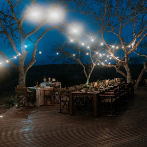 Outdoor Safari Lodge Wedding Reception
