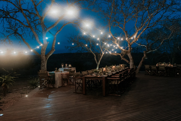 Outdoor Safari Lodge Wedding Reception