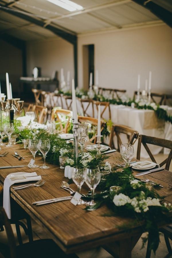 Rustic elegant wedding tables