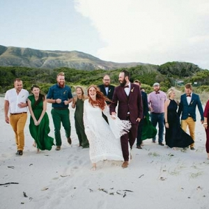 Colorful Mismatched Wedding Party