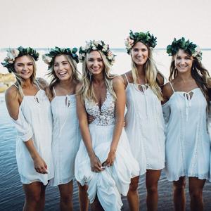 Bohemian Beach Bridesmaids