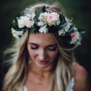 Boho Bride in Floral Crown