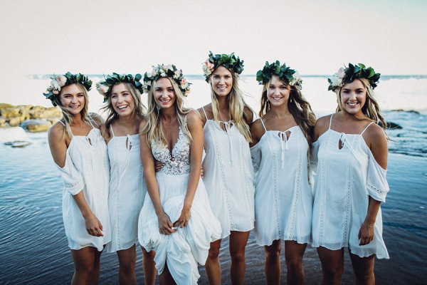 Bohemian Beach Bridesmaids