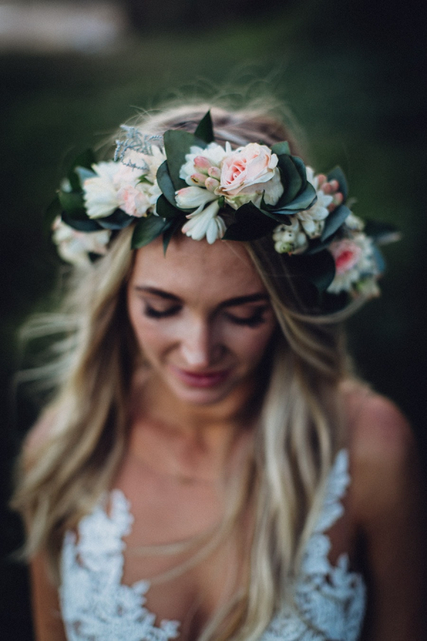 Boho Bride in Floral Crown