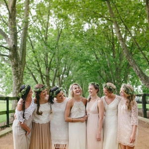 Mismatched Boho Bridesmaids