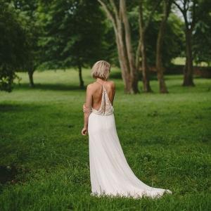 Boho Wedding Dress with Back Detail