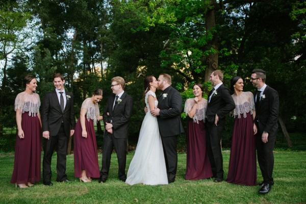 Bridesmaids in capes