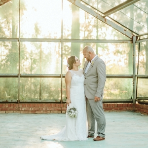 Greenhouse couple portrait