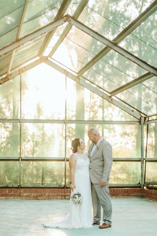 Greenhouse couple portrait