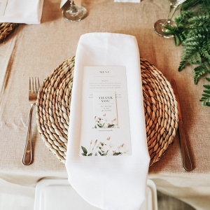 Place Setting with Botanical Stationery