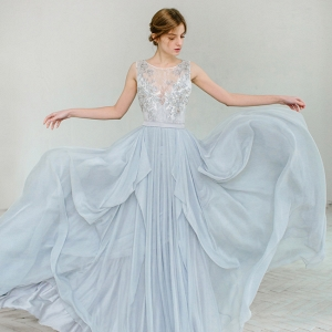 Lobelia Silver Grey Wedding Dress by Carousel Fashion