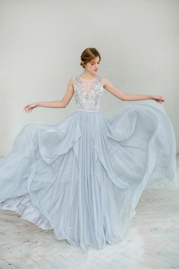 15 Breathtaking Blue Wedding Dresses - Aisle Society
