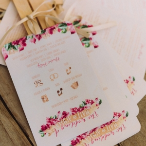 Watercolor wedding programmes