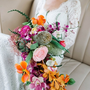 Colorful Bright Cascade Bouquet