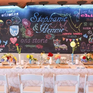 Chalkboard Love Story Backdrop