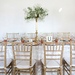 Classic wedding table with scrabble table number