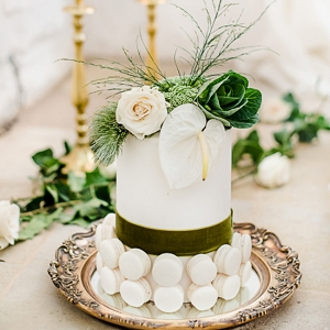 Cake With Macaron Decoration