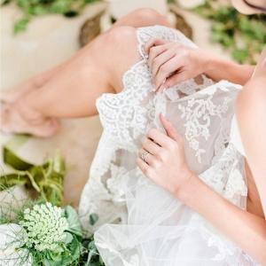 Bridal Boudoir with Lace Veil