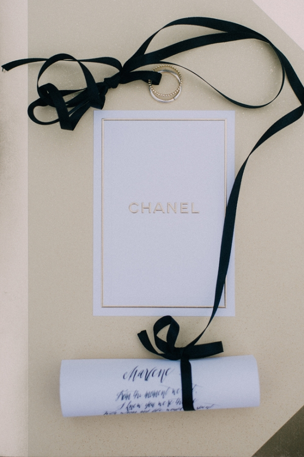 Wedding Rings with Chanel Box