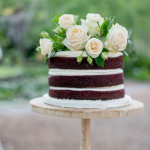Naked Cake on Tall Stand