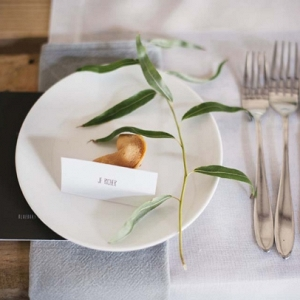 Place Setting with Fortune Cookie Favor