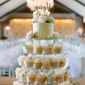 Elegant cupcake tower