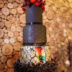 Rainbow Flag Wedding Cake