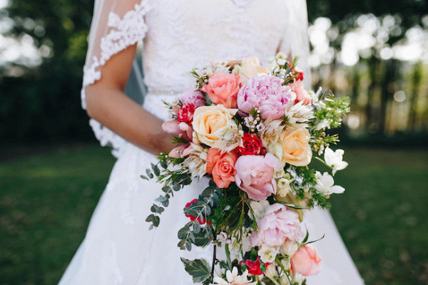Colorful Peony & Rose Bouquet