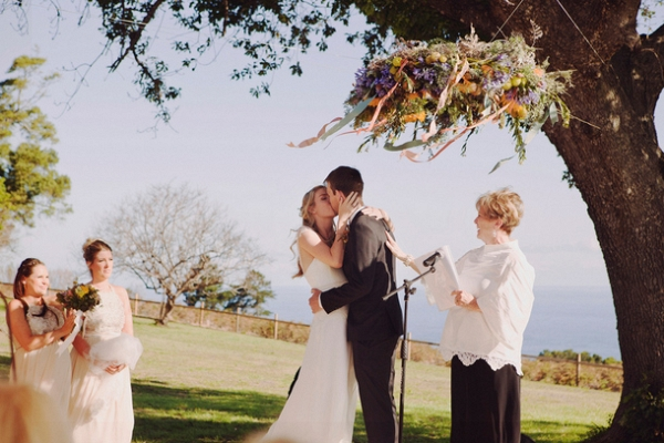 Ceremony with Floral Chandelier