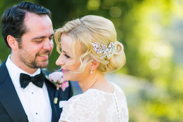 Bride with Romantic Updo