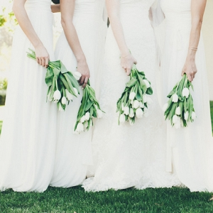 Tulip bridesmaid bouquets
