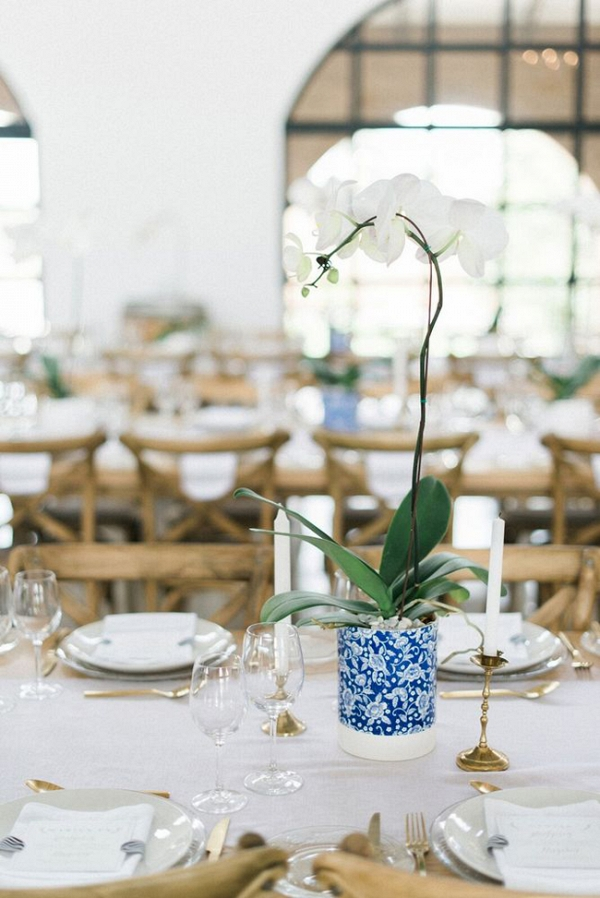 Tablescape with Orchid Centerpiece