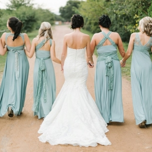 Seafoam bridesmaid dresses