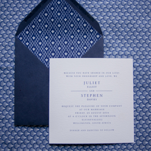 Shweshwe Wedding Invitation