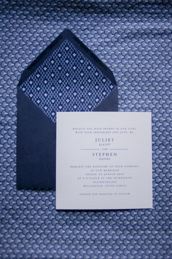 Shweshwe Wedding Invitation
