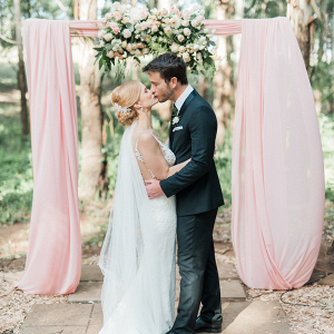 Draped Floral Arch