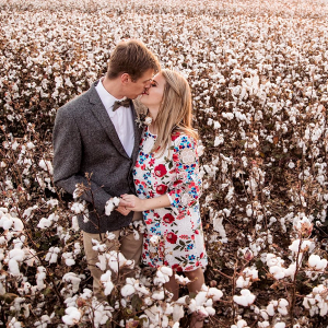 Engagement Shoot in Cotton Field