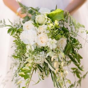 Organic White Cascade Bouquet