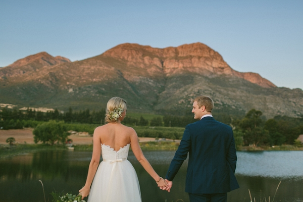Bride & Groom with Mountain Backdrop