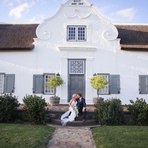 Bride & Groom at Cape Dutch Homestead