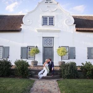 Bride & Groom at Cape Dutch Homestead