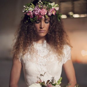 Bride in flower crown