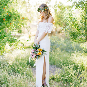 Off the Shoulder Boho Wedding Dress