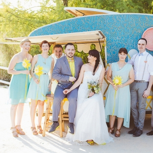 Wedding Party with Ice Cream Van