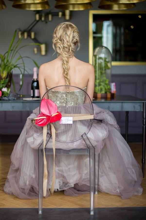 Bride with loose plait
