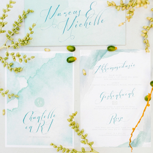 Watercolor Calligraphy Invitation Suite