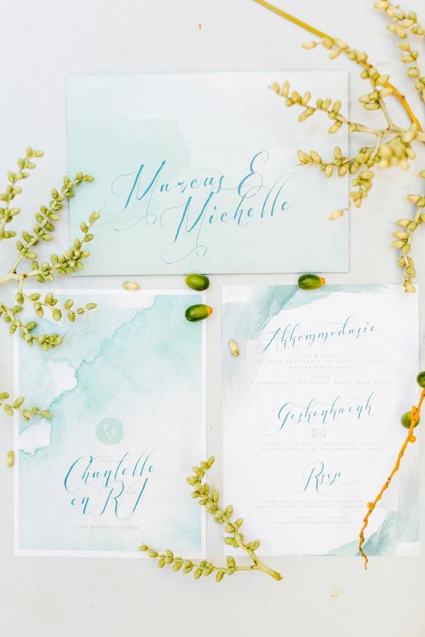 Watercolor Calligraphy Invitation Suite