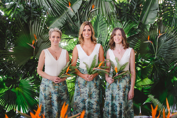 Tropical Print Bridesmaids