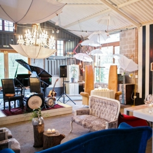 Eclectic music lounge wedding venue